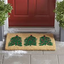 Holiday Doormat Winter Coir Doormat U2013 Holiday Trees The Company Store