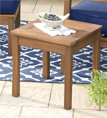 Wood Side Table Eucalyptus Side Table Outdoor Side Tables Plow Hearth