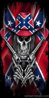 Confederate Flag Pin Rebel Flag Beach Towel Skeleton Cowboy With Guns Confederate