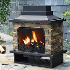 decor tips patio design ideas with outdoor stone fireplace kits