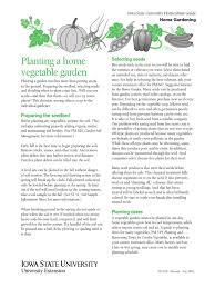 planting a home vegetable garden pdf sowing vegetables