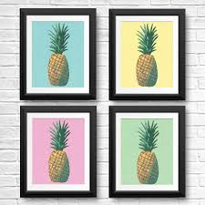 pink pineapple pop art print shelby dillon studio