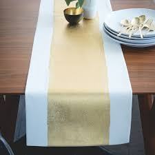 table runner painted metallic table runner west elm