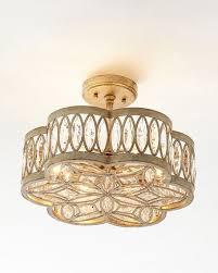 Ceiling Light Semi Flush Richard Collection Diamante Six Light Semi Flush Ceiling Light