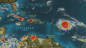 hurricane irma florida and carribean as category 5 storm
