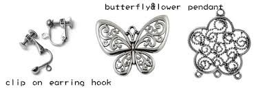 how to make your own clip on earrings make your own clip on earrings a pair of butterfly flower