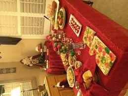 christmas party food table holidays pinterest food