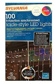 8 function multi color led christmas lights sylvania christmas lights 100 icicle style led lights 8 function
