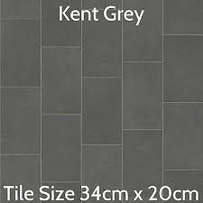grey slate tile effect vinyl flooring kitchen bathroom cheap lino