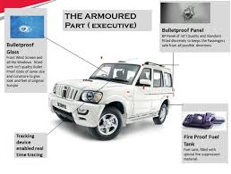 bulletproof jeep bullet proof mahindra scorpio fully armoured version available online