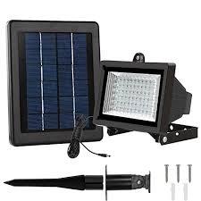 led solar security light lte 60 led solar lights outdoor security floodlight 300 lumen
