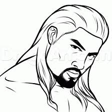 how to draw roman reigns step by step sports pop culture free