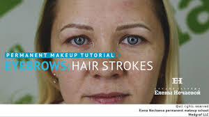 Permanent Makeup Eyebrows Hair Stroke Permanent Makeup Tutorial Hair Strokes мастер класс по татуажу