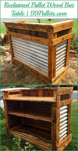 Patio Furniture Made From Wood Pallets by Diy Reclaimed Pallet Wood Bar Table Wood Bars Pallet Wood And