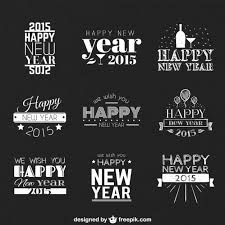 happy new year greetings vector free