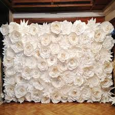 wedding backdrops diy 128pcs set gaint wedding paper flowers wall handmade diy mix