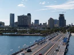 st petersburg fl downtown skyline from the pier cities