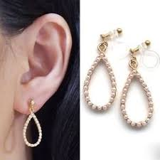 how to make clip on earrings comfortable crystals in cage invisible clip on earrings drop clip on earrings