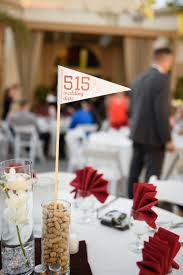 themed wedding centerpieces featured wedding drew s baseball themed wedding the