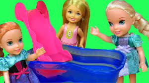 pool fun elsa u0026 anna toddlers u0026 chelsea slide shopkins in the