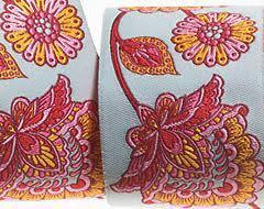bulk ribbon buy ribbons aqua flowery ribbon tula pink renaissance ribbons