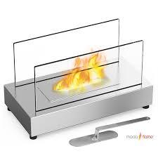moda flame table top moda flame vigo table top indoor outdoor ethanol fireplace stainless