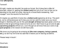 letter colleagues goodbye email boss sample farewell quotes and