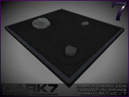 Zen Floor L Second Marketplace 7 Black Sand Zen Garden L Black