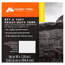 ozark trail heavy duty tarp silver brown walmart com