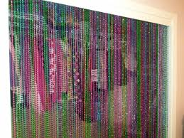 How To Hang Door Beads by Ways To Reuse Mardi Gras Beads Cut In Half To Strings Of Beads