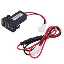 toyota auto car aliexpress com buy auto car 2 1a dual usb port charger dashboard