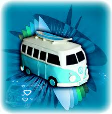 volkswagen van hippie blue cute vw kombi cake tutorial u2013 cake cupcakes and cookies