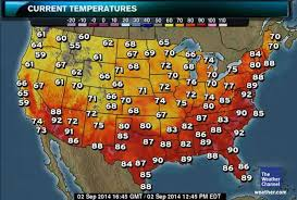 United States Temp Map by D C U0027s Longest Hottest Heat Wave Has Waited For September The