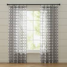 Oversized Curtain Rod Molly White And Grey Curtains Crate And Barrel Smith Ranch