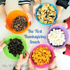 the thanksgiving snack stay at home educator