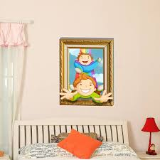 Decals For Kids Rooms 3d Baby Kids Room Cartoon Children Playing Funny Games Wall Decals