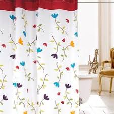 Outdoor Shower Curtain Ring - graceful summer garden copper ring shower curtain shower