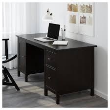 hemnes desk black brown 155x65 cm ikea