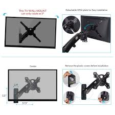 tv wall mount 400 x 400 amazon com tv wall mount bracket with articulating arm height