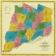 New York Counties Map Old County Map Otsego New York Landowner Burr 1829