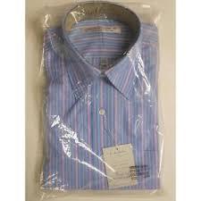 men u0027s wrinkle free dress shirt 664 neck 16 5 sleeve 34 35 blue