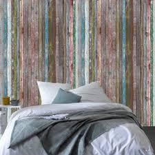 papier peint trompe l oeil pour chambre papier peint trompe l oeil planche bois colore 4murs