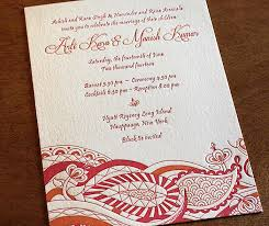 south asian wedding invitations arti south asian wedding invitation design letterpress wedding
