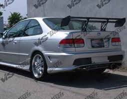2000 honda civic spoiler honda civic 2dr 4dr vis racing kombat 2 rear bumper