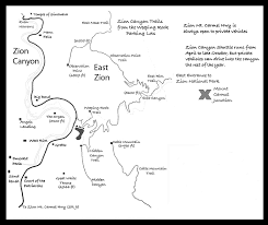 map of zion national park zion national park map
