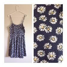 cotton on new listing daisy print dark blue dress from