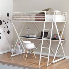 Bunk Beds  Full Size Loft Bed With Stairs Twin Over Queen Bunk - Queen bunk bed with desk