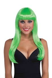 halloween costumes wigs neon long club candy womens halloween costume wig accessory
