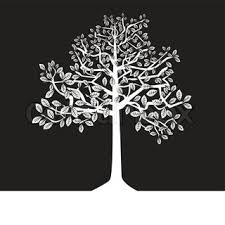 white tree black and white tree stock vector colourbox