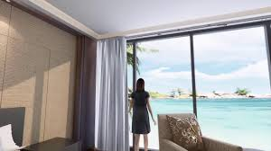motorized curtain controlled by remote control or hand youtube